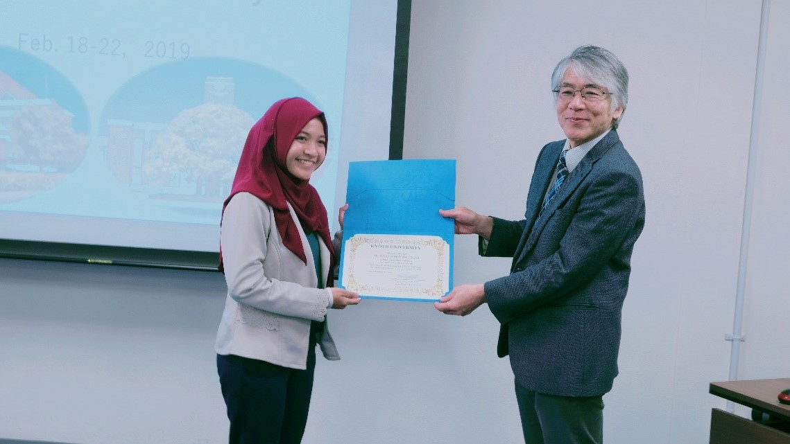•	Awardee Kyoto Winter School in Graduate School of Agriculture, Kyoto University, Japan2 019